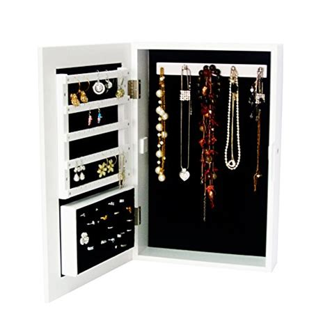 mini jewelry armoire white wall mounted standing mirror countertop small