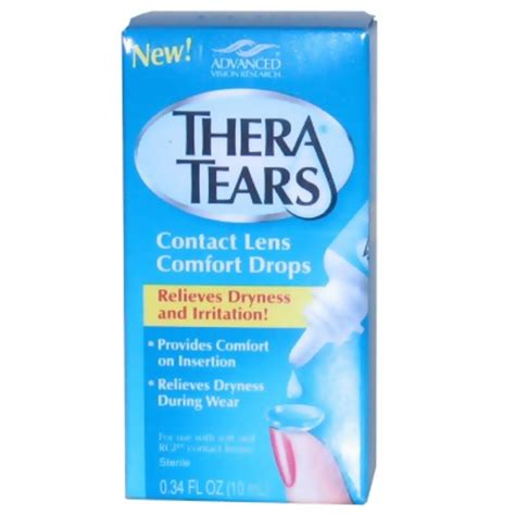 what is contact comfort thera tears contact lens comfort drops contact lenses