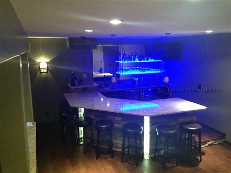 diy lighted bar shelves led floating shelves customized designs