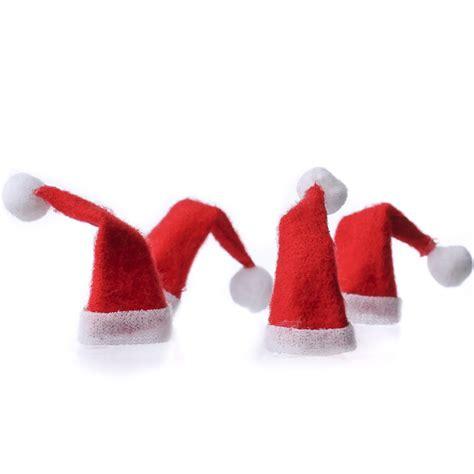 miniature felt santa hats doll accessories doll making