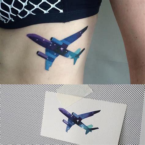 plane by sasha unisex tatuajes para