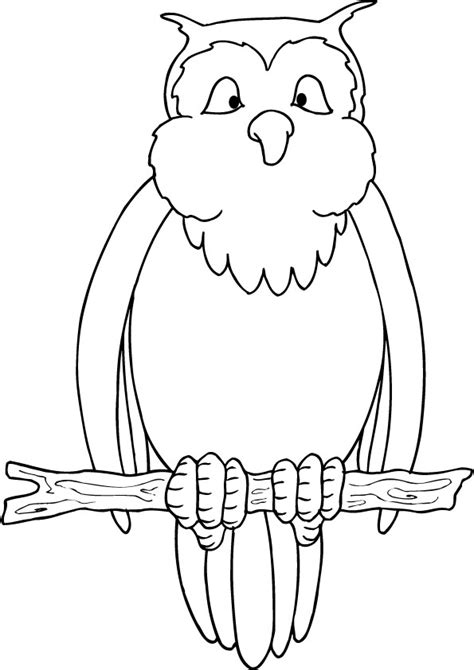 owl coloring pages simple free coloring pages of easy owl