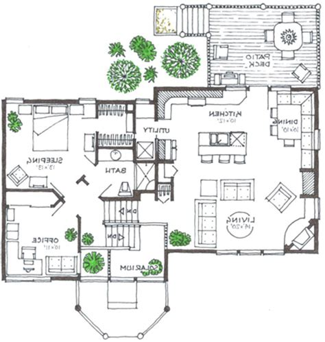 rustic supreme green home split level house plan