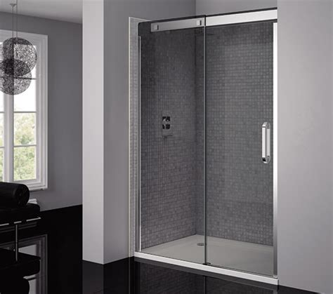 Smoked Glass Shower Doors April Prestige Frameless 1400mm Smoked Silver Sliding Shower Door Ap8804l Smk