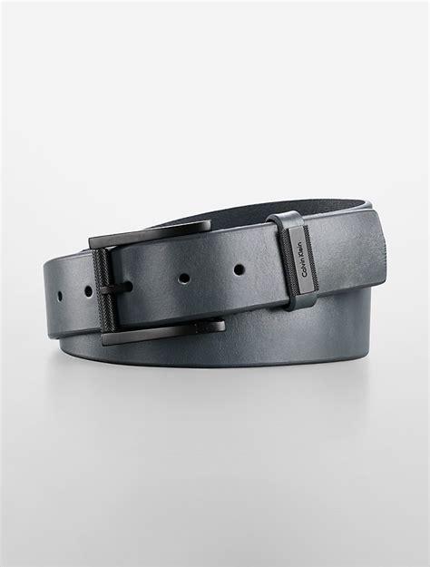 mens calvin klein simple leather belt ebay