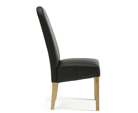 Black Faux Leather Dining Room Chairs Mursley Black Faux Leather And Oak Dining Chairs Frances Hunt