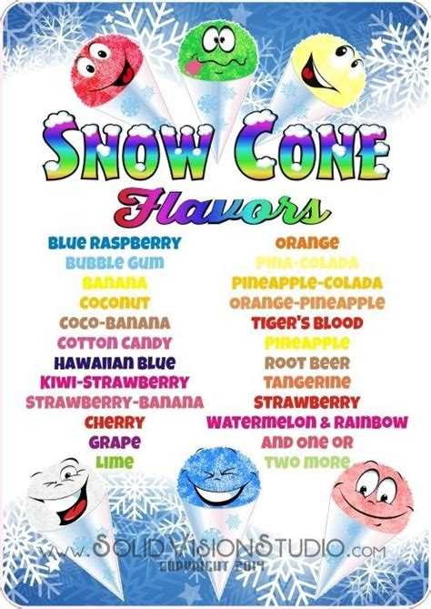 24 Quot Custom Snow Cone Flavor Syrup Menu Concession Trailer Food Truck Sign Decal Snow Cone Business Plan Template