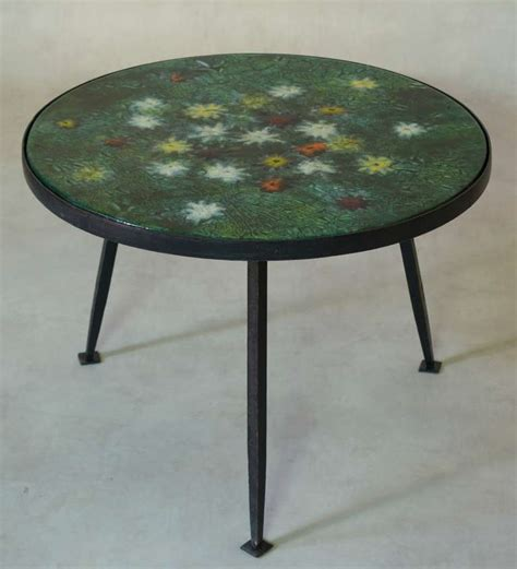 Coffee Table With Colourful Enameled Top France 1950s Colourful Coffee Tables