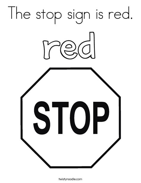 Stop Sign Coloring Page 28 Images Stop Sign Coloring Stoplight Coloring Page