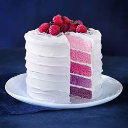 rainbow layer cake raspberry frosting recipes lakeland