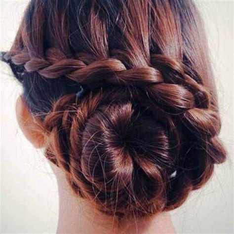 waterfall braid bun 28 diy hairstyles how to diy waterfall braided bun hairstyle