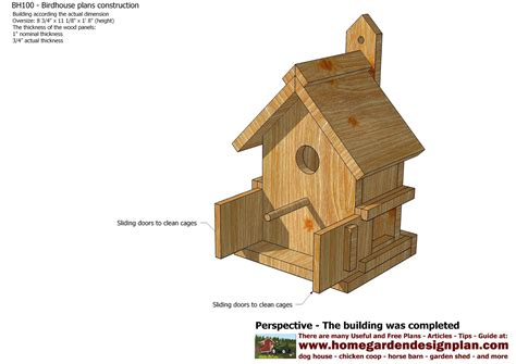 building house plans home garden plans bh100 bird house plans construction bird house design how to