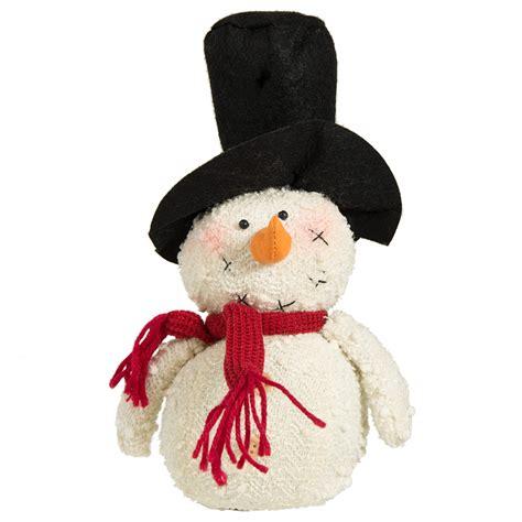 10 quot fabric snowman santa hat osw156259 craftoutlet com