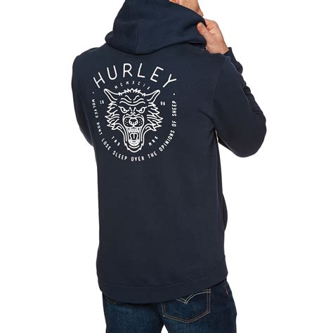 hurley hoodies hurley surf check wolf pullover hoody obsidian ebay