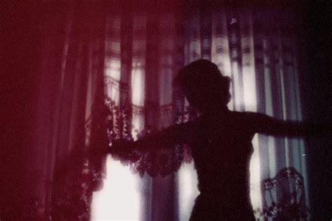 curtain dancing curtain dance ethereal girl purple shadow image