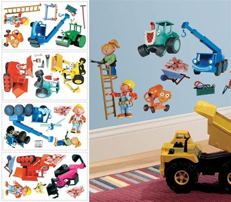 bob the builder wall stickers bob the builder peel and stick appliques
