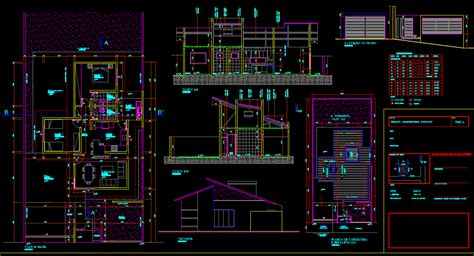 single house   autocad cad   kb bibliocad