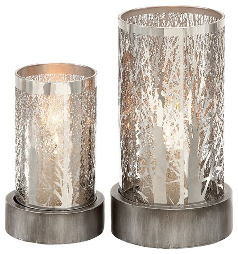 Metal Candle Holder, Set of 2   Modern   Candleholders   by Brimfield & May