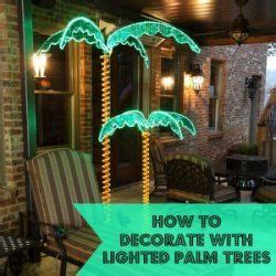 how to decorate a palm tree how to decorate with lighted palm trees great for luaus pool and as an alternative to