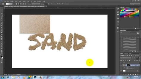 sand typography photoshop tutorial photoshop tutorials how to create sand effect using