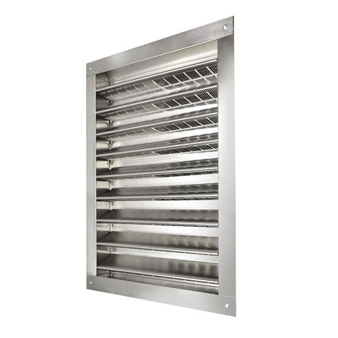 Master Flow 14 in. x 24 in. Aluminum Wall Louver Static