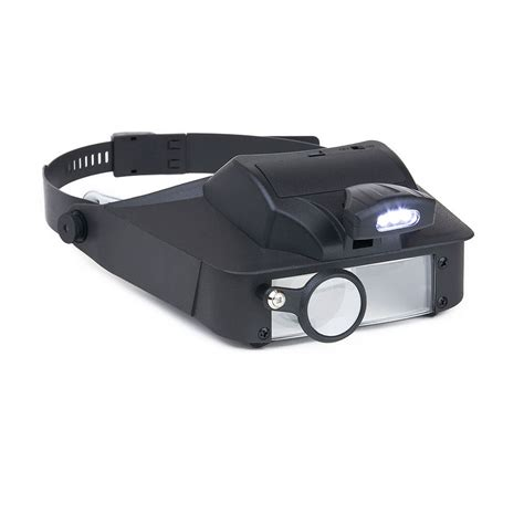 maxiaids lumivisor visor magnifier with led light