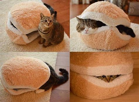 hamburger cat bed cozy catburger home design garden architecture blog