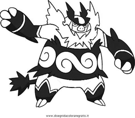 emboar pokemon coloring page free emboar the pokemon coloring pages