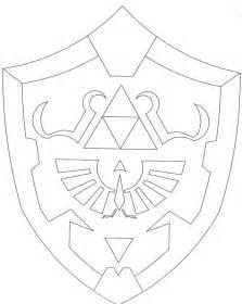 Hylian Shield Outline by Hylian Shield From The Legend Of Backpack Obsidian S Ramblings