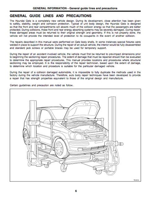 Download Hyundai Getz Body Service And Repair Manual