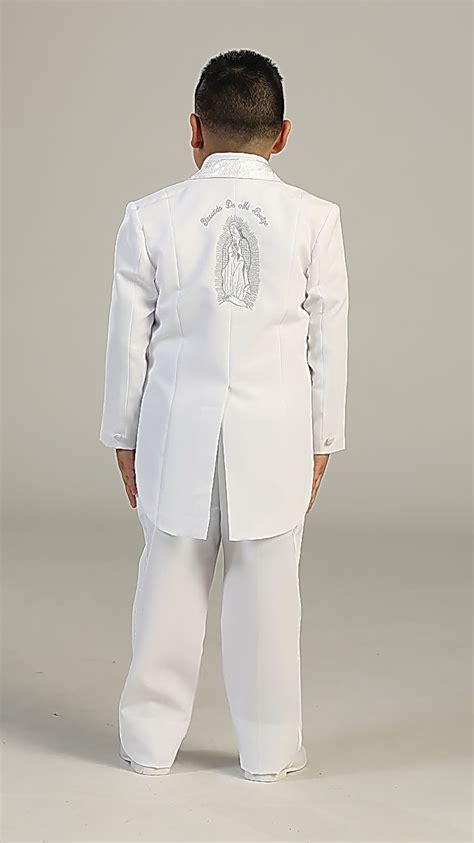 tt boys suit style  white  piece communion