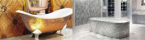 bagni con vasca moderni rivestimento vasca da bagno