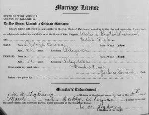 Wvculture Marriage Records 52 Ancestors In 52 Weeks William H Richmond Sr Finding Our Ancestors