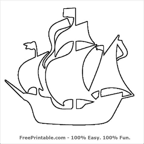 pirate ship template for 7 best images of pirate pumpkin stencil printable
