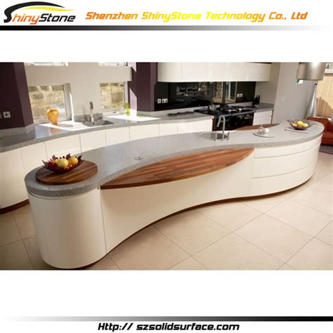 Oval Reception Desk Oval Shape Contorary Solid Surface Artificial White Modern Lobby Reception Desk View