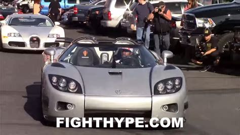 koenigsegg ccxr trevita mayweather watch floyd mayweather leading a bugatti convoy in his new