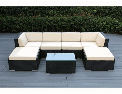 sofa and chaise lounge set beautiful outdoor patio wicker seating sofa and