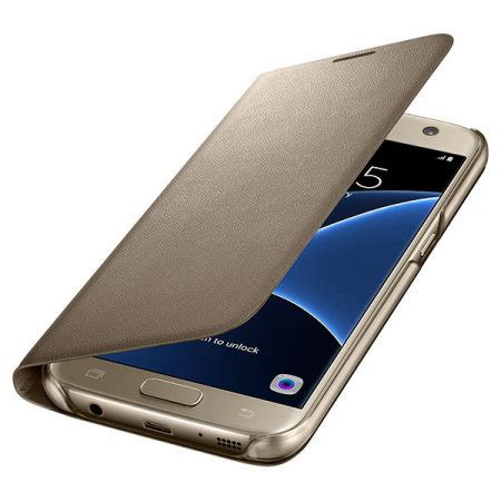 Delkin Flip Cover Samsung S7 Gold official samsung galaxy s7 led flip wallet cover gold