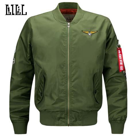 Promo Bomber Jacket Premium Army Waterproof m 6xl s waterproof bomber jacket air one army coat style black
