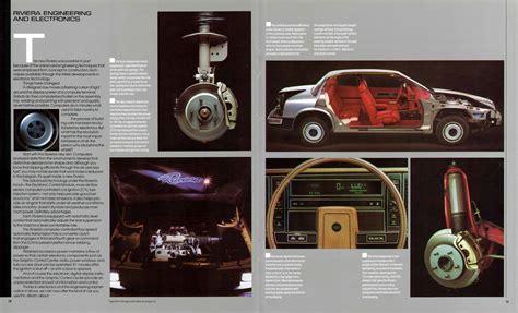 car engine manuals 1986 buick riviera auto manual 1986 buick riviera prestige brochure