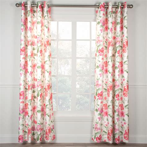rose drapes ardynne rose floral grommet curtain panels