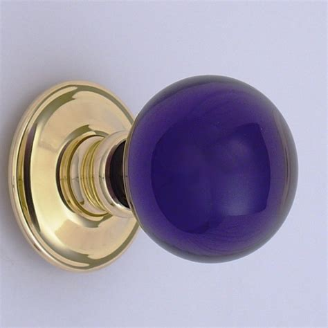 purple glass door knob purple balloon glass door knob ironmongery