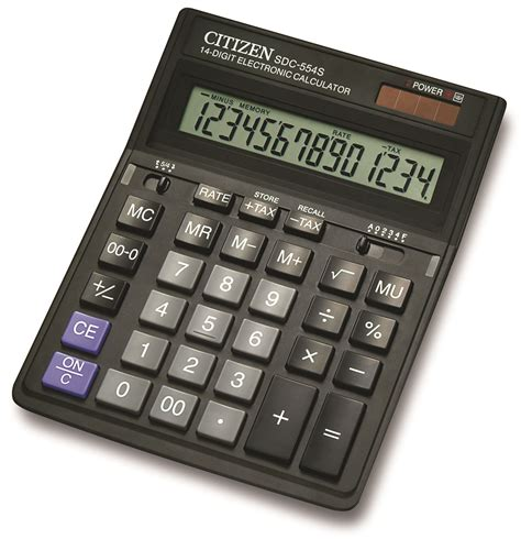 Kalkulator Citizen Ct 555n212 office calculator citizen sdc 554s 14 digit 199x153mm black eko biuro