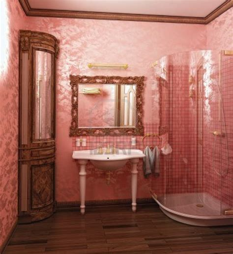 Modern Pink Tile Bathroom 40 Vintage Pink Bathroom Tile Ideas And Pictures