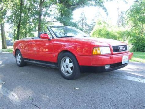 how it works cars 1995 audi cabriolet spare parts catalogs buy new 1995 audi cabriolet base convertible 2 door 2 8l convertible no reserve in west chicago