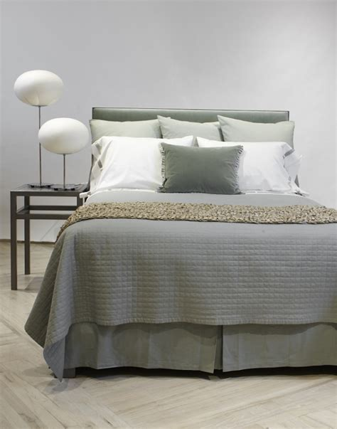 Quilted Bed Linen Gish Quilted Linen Cotton Bedding Ready To Bed J