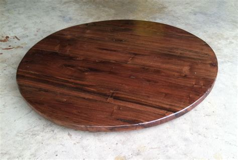 lazy susans hand crafted 26 inch black walnut lazy susan by bc