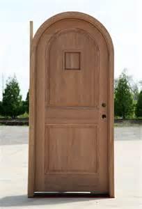 arched single entry door solid mahogany