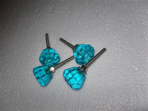 etsy dresser drawer pulls aqua blue glass dresser drawer knobs by theshabbyshak on etsy