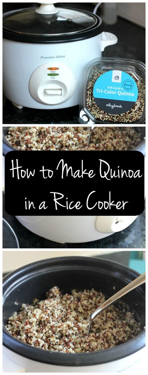 Rice Cooker 3 In 1 how to make quinoa in a rice cooker recept